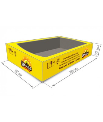 Corrugated tray